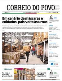 Capa do jornal Correio do Povo 14/11/2020