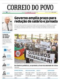 Capa do jornal Correio do Povo 15/07/2020