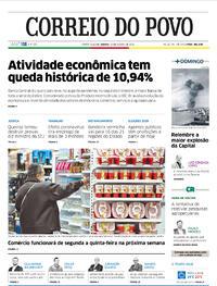 Capa do jornal Correio do Povo 15/08/2020