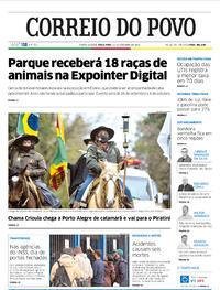 Capa do jornal Correio do Povo 15/09/2020