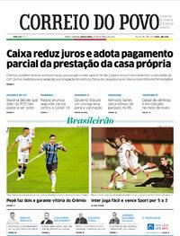 Capa do jornal Correio do Povo 15/10/2020