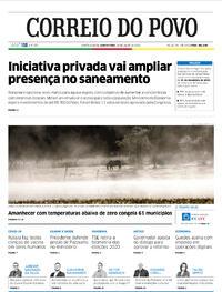 Capa do jornal Correio do Povo 16/07/2020