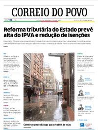 Capa do jornal Correio do Povo 17/07/2020