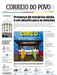 Capa do jornal Correio do Povo 17/10/2020