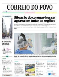 Capa do jornal Correio do Povo 18/07/2020
