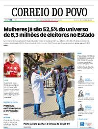 Capa do jornal Correio do Povo 18/08/2020