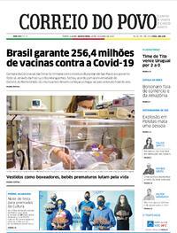 Capa do jornal Correio do Povo 18/11/2020