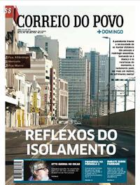 Capa do jornal Correio do Povo 19/07/2020