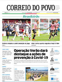 Capa do jornal Correio do Povo 19/10/2020