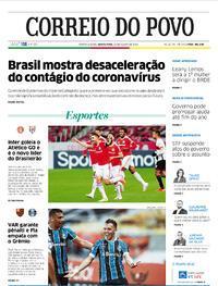 Capa do jornal Correio do Povo 20/08/2020