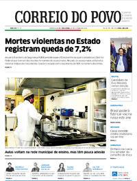 Capa do jornal Correio do Povo 20/10/2020