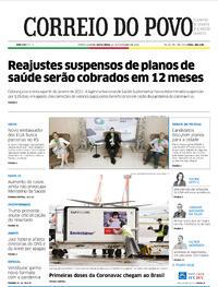 Capa do jornal Correio do Povo 20/11/2020