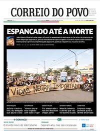 Capa do jornal Correio do Povo 21/11/2020