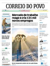 Capa do jornal Correio do Povo 22/08/2020
