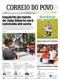 Capa do jornal Correio do Povo 23/11/2020