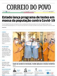 Capa do jornal Correio do Povo 24/07/2020