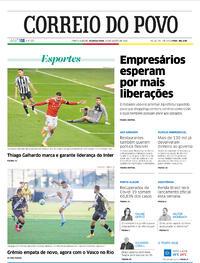 Capa do jornal Correio do Povo 24/08/2020