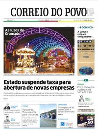 Capa do jornal Correio do Povo 24/10/2020