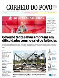 Capa do jornal Correio do Povo 24/11/2020