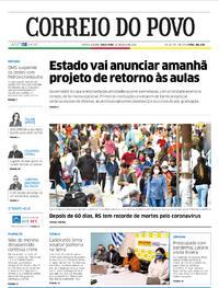 Capa do jornal Correio do Povo 26/05/2020
