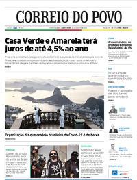 Capa do jornal Correio do Povo 26/08/2020