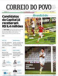 Capa do jornal Correio do Povo 26/10/2020