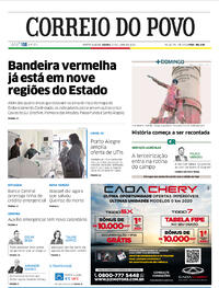 Capa do jornal Correio do Povo 27/06/2020