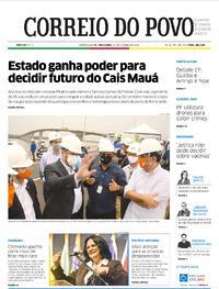 Capa do jornal Correio do Povo 27/10/2020