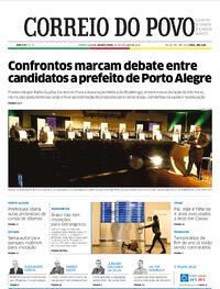 Capa do jornal Correio do Povo 28/10/2020