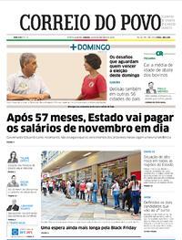 Capa do jornal Correio do Povo 28/11/2020