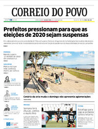 Capa do jornal Correio do Povo 29/06/2020
