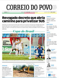 Capa do jornal Correio do Povo 29/10/2020