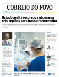 Capa do jornal Correio do Povo 30/06/2020