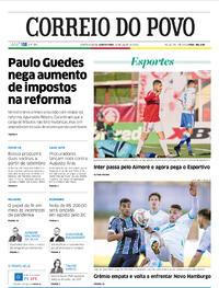 Capa do jornal Correio do Povo 30/07/2020