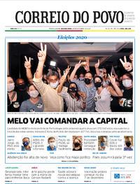 Capa do jornal Correio do Povo 30/11/2020
