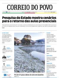 Capa do jornal Correio do Povo 31/07/2020