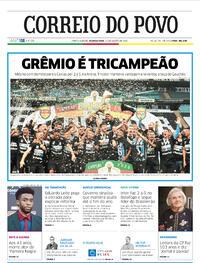 Capa do jornal Correio do Povo 31/08/2020