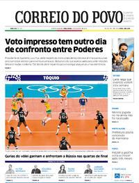 Capa do jornal Correio do Povo 03/08/2021