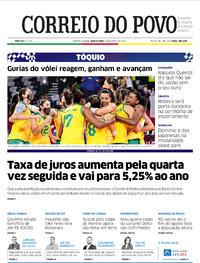 Capa do jornal Correio do Povo 05/08/2021