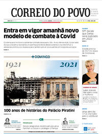 Capa do jornal Correio do Povo 15/05/2021