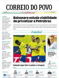 Capa do jornal Correio do Povo 15/10/2021