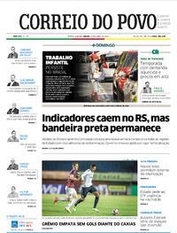 Capa do jornal Correio do Povo 17/04/2021