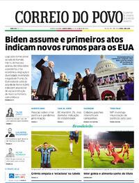 Capa do jornal Correio do Povo 21/01/2021