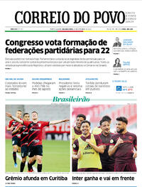 Capa do jornal Correio do Povo 27/09/2021