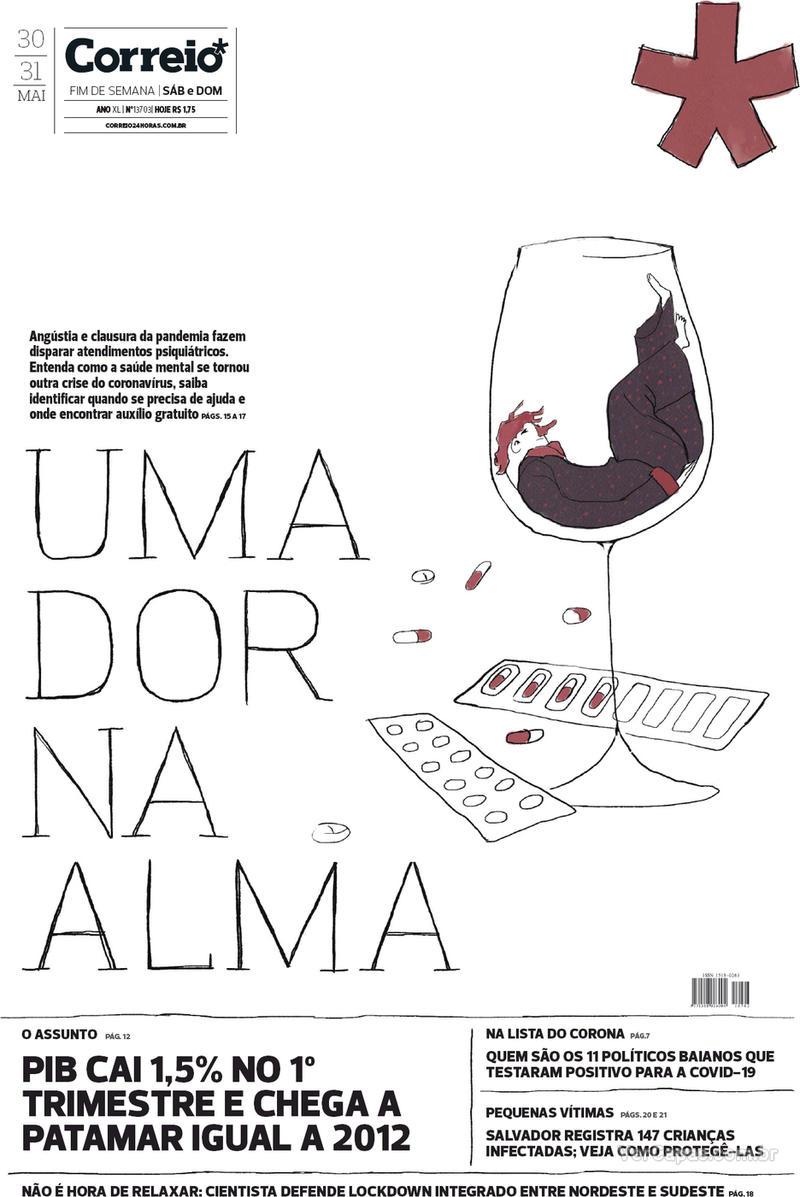 Capa do jornal Correio 30/05/2020