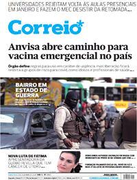 Capa do jornal Correio 03/12/2020