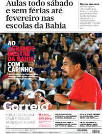 Capa do jornal Correio 04/08/2020