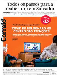 Capa do jornal Correio 08/07/2020