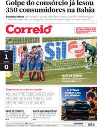 Capa do jornal Correio 13/08/2020
