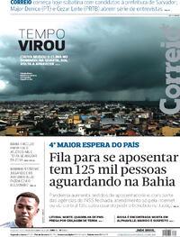 Capa do jornal Correio 19/10/2020